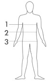 Measure your chest, waist, hips & inseam. Then compare your measurements to the chart above.