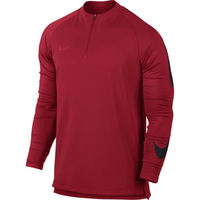verano conductor periodista  Nike Dry Squad Drill Top - University Red/Black | soccerloco
