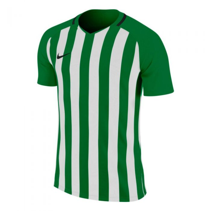 Nike Men's Striped Division Iii Jersey - Pine Green/white