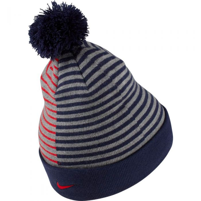 Nike Paris Saint Germain Beanie With Pom Midnight Navy Soccerloco