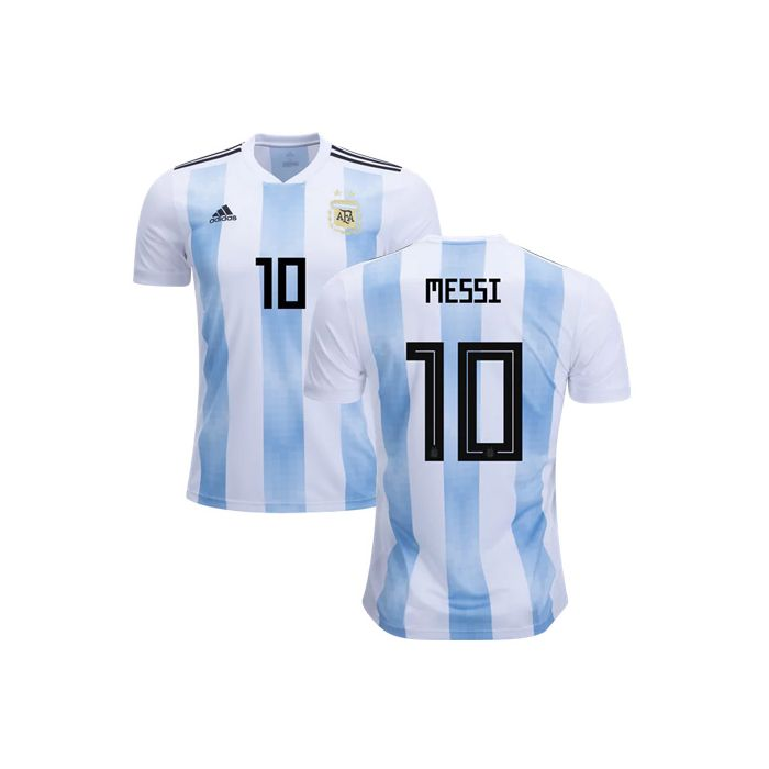 adidas Youth Messi #10 Argentina Home Jersey 2018 - White/Clear ...