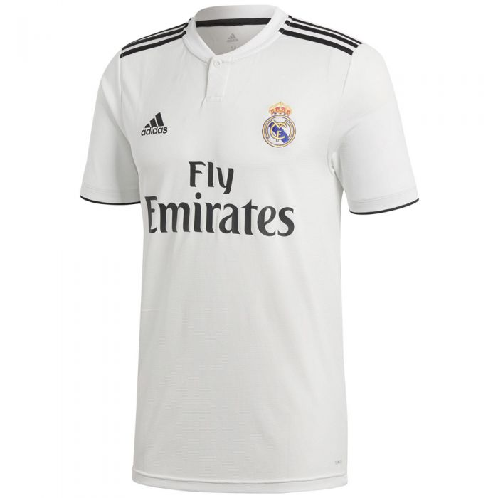 adidas Real Madrid Home Jersey 18/19 - Core White/Black
