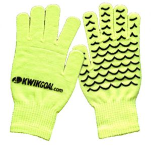 Kwik Goal Field Player Gloves - Hi-Vis Yellow