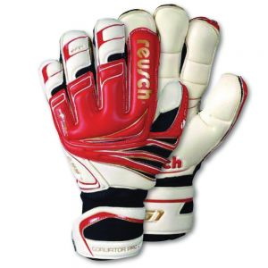 Reusch Goaliator Pro Ortho-Tec Goalkeeper Gloves - Red/White/Black