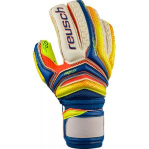 Reusch Serathor Supreme G2 Ortho-Tec Goalkeeper Gloves - Dazzling Blue/Saftey Yellow