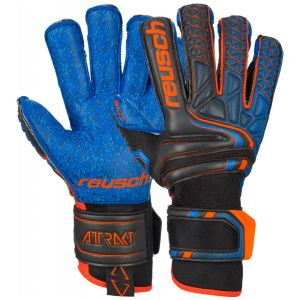 Reusch Attrakt G3 Fusion Evolution Finger Support Glove - Black/shock Orange/blue