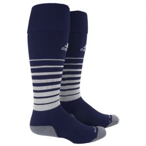 adidas Team Speed Soccer Sock (Medium) - Navy/White