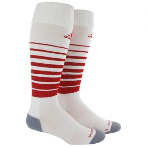 adidas Team Speed Soccer Sock (Large) - White/Red