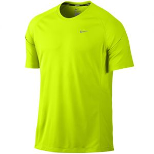 Nike Miler Short-Sleeve UV Training Shirt - Volt