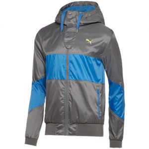 Puma Men's Hooded Jacket - Steel Grey/Royal