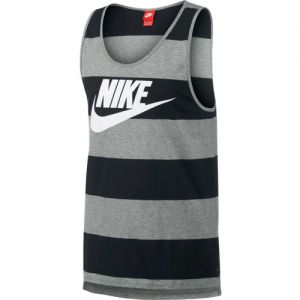 Nike Glory Striped Tank Top - Black/Grey