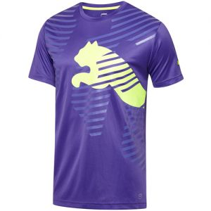 Puma IT evoTRG Graphic Tee - Purple/Fluro Yellow