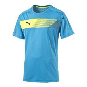 Puma IT evoTRG PWRCOOL Graphic Tee - Atomic Blue/Safety Yellow