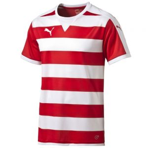 Puma Hooped Jersey - Red/White