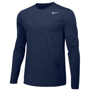 Nike Legend Long Sleeve Poly Top - Navy/Silver