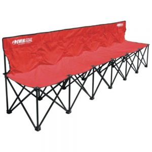 Kwik Goal 6 Seat Kwik Bench - Red