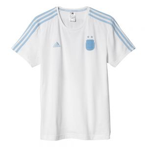 adidas Argentina 3-Stripes Messi Tee - White/Clear Blue