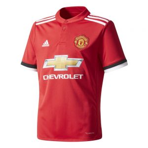 adidas Youth Manchester United Home Jersey 17/18 - Real Red/White/Black