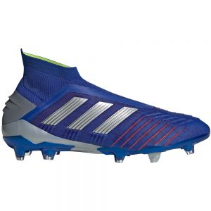 adidas Predator 19+ FG - Bold Blue/Silver Metallic/Active Red