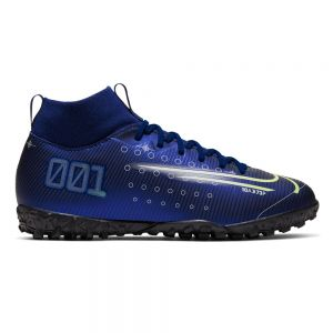Nike Jr Mercurial Superfly 7 Academy MDS TF - Blue Void/Barely Volt/White