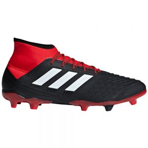 adidas Predator 18.2 FG - Core Black/White/Red