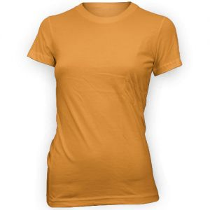 Ladies Perfect Weight Crew Tee - Orange