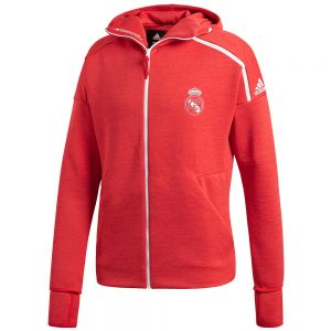 adidas Real Madrid ZNE Hooded 3.0 Jacket - Vivid Red/Real Coral