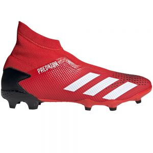 adidas Predator 20.3 Laceless FG - Active Red/White