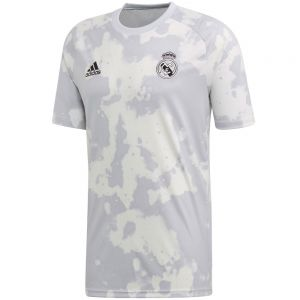 adidas Real Madrid Pre-Match Jersey 19/20 - Grey/White