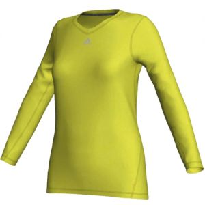 adidas Women's Techfit Long Sleeve Knit Top - Lab Lime