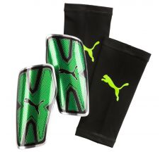 Puma evoPOWER Vigor Graphic Guard with Sleeve - Green Gecko/Puma Black/Silver