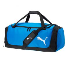 Puma Football Medium Duffle Bag - Electric Blue Lemonade/Puma Black