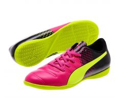 Puma Jr evoPOWER 4.3 Tricks IT - Pink Glo/Safety Yellow/Black