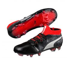 Jr Puma One 18.1 FG - Puma Black/Puma Silver/Red Blast