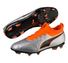 Puma One 2 Leather FG - Puma Silver/Shocking Orange