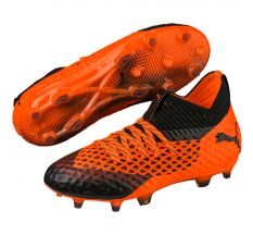 Puma Jr Future 2.1 Netfit FG/AG - Puma Black/Shocking Orange