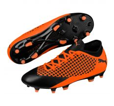 Puma Jr Future 2.4 FG/AG - Puma Black/Shocking Orange