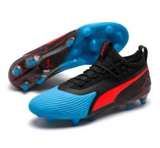 Puma One 19.1 Synthetic FG/AG - Bleu Azur/Red Blast
