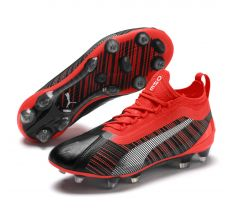 Puma Jr One 5.1 FG/AG - Puma Black/Energy Red/Aged Silver