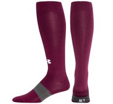 Under Armour Youth Soccer Over the Calf Sock - Maroon