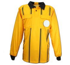 Kwik Goal Premier Long Sleeve Referee Jersey - Yellow