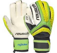 Reusch Pulse Pro Duo G2 Goalkeeper Gloves - Green/White/Yellow