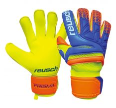 Reusch Prisma Prime S1 Evolution Finger Support Glove - Safety Yellow/Blue/Shocking Orange