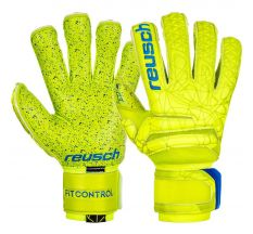 Reusch Fit Control G3 Fusion Evolution Finger Support Glove - Lime/Safety Yellow/Blue