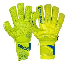 Reusch Fit Control Supreme G3 Fusion Ortho-Tec Glove - Lime/Safety Yellow/Blue