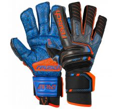 Reusch Attrakt G3 Fusion Ortho-tec Goaliator Glove - Black/shock Orange/blue