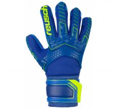Reusch Jr Freegel S1 Finger Support Glove - Deep Blue/safety Yellow