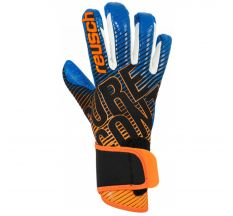 Reusch Jr Pure Contact III G3 Fusion Glove - Black/shock Orange/blue