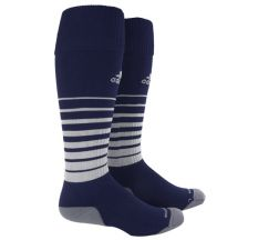 adidas Team Speed Soccer Sock (Large) - Navy/White