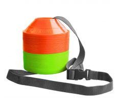 Kwik Goal Mini Disc Cone Kit - Hi Vis Orange/Hi Vis Green
